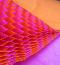 Honeycomb Paper x 1. 17cm x 25cm. Pink/Orange Duo Colours